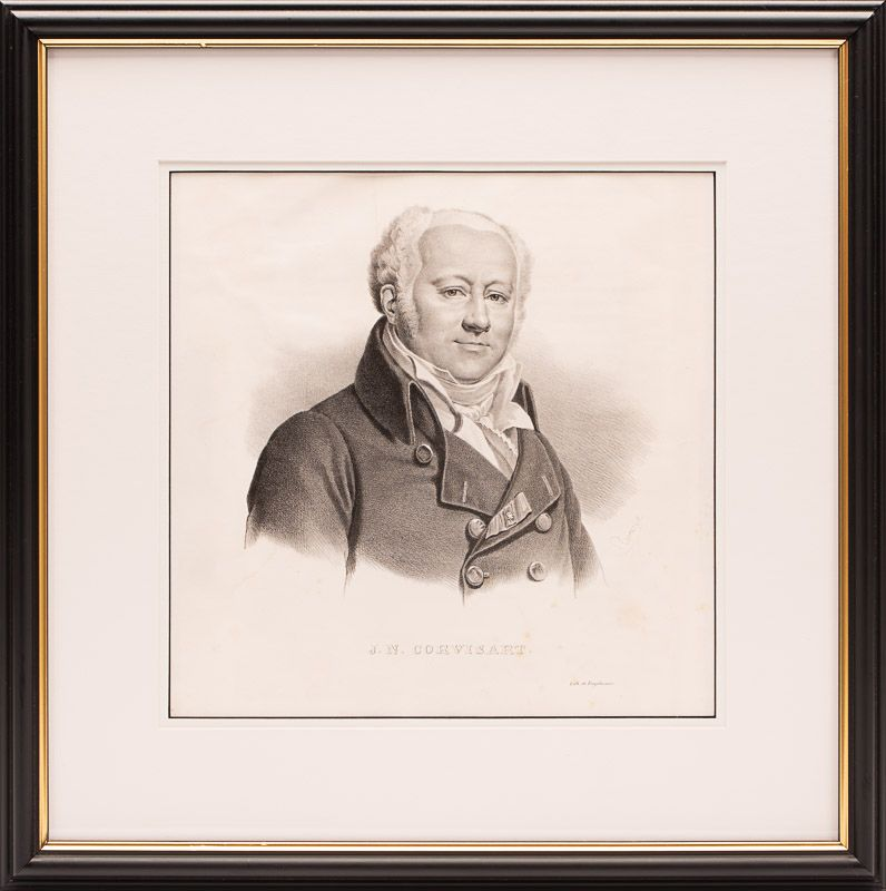 Engelmann, Original, early 19th-century portrait of french physician and cardiol