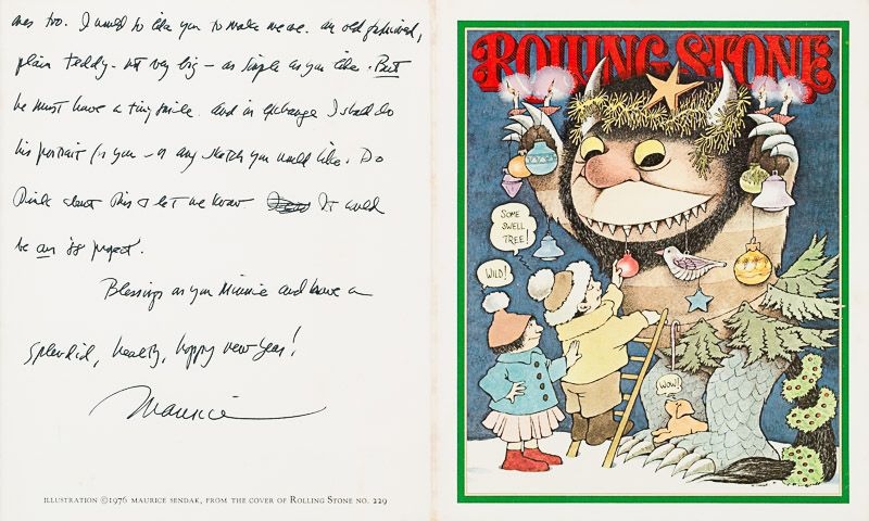 Sendak, Small Collection / Small Archive of two very rich and personal, handwrit