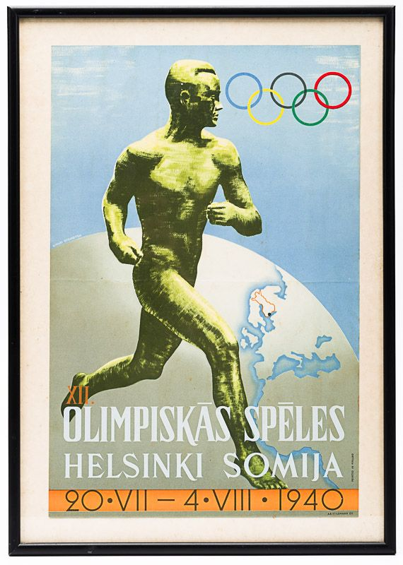 "Sysimetsä, Original Poster – Designed for the XII. Olympic Games in Helsinki: ""X"