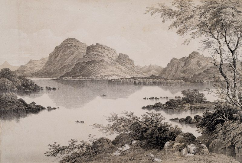 Newman, View of Muckross Lake from Brickeen Bridge. [Torc Lake, a name commonly