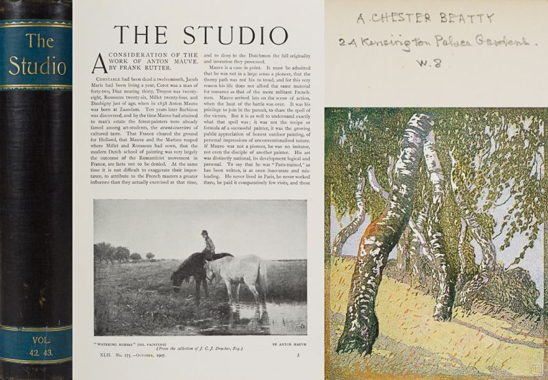 [Chester Beatty, The Studio: an illustrated magazine of fine and applied art.