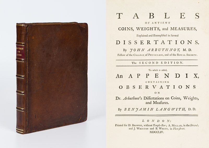 Arbuthnot, Tables of Antient Coins, Weights and Measures – Explained And Exempli