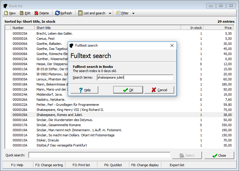 Quick search, fulltext search, keyword search, advanced search: Juliet finds an answer even to your most complex  question.