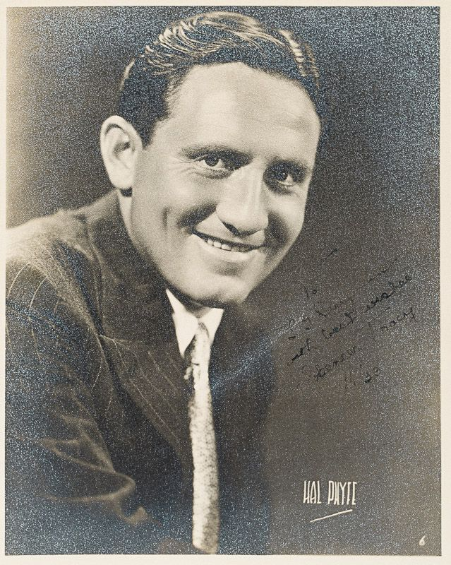 Tracy, Vintage black and white photograph of a young Spencer Tracy, by Hal Phyfe