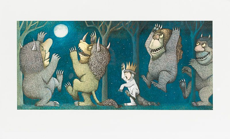 Sendak, Collection / Archive of three (3) very large gicleé prints of original d