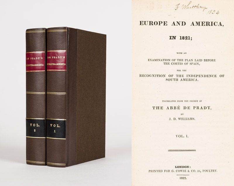 Pradt, Europe and America, in 1821; with an Examination of the Plan laid before
