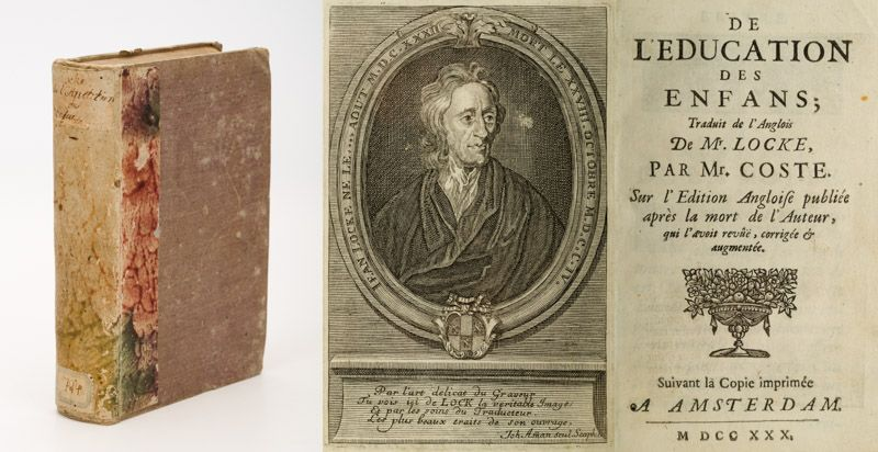 Locke, De l'education des enfans; traduit de l'anglois de Mr. Locke, par Mr. Cos