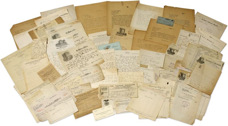 Levy, Archive / Collection of more than 300 letters, documents, ephemera, manusc
