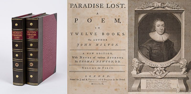 Milton, Paradise Lost – A Poem in Twelve Books.