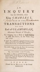 An Inquiry into the Share which King Charles I had in the transactions of the Ea
